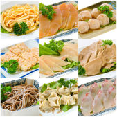 Steamboat food collection. chinese food — Stock Photo