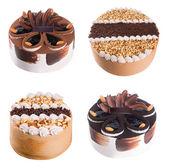 Pastel. colección de tortas de helado sobre fondo — Foto de Stock