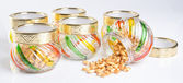 Candy jar on a background — Stock Photo