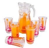 Orange juice on a background — Stock Photo
