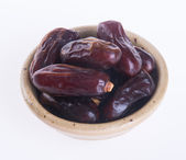 Dates isolated on a background — Stock Photo