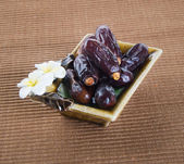 Dates, Dried dates on a background — Stock Photo