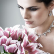 Stock Photo: Portrait of beautiful bride. Wedding decoration