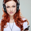 Beautiful girl with headphones — Stock Photo #30016785
