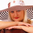 Beautiful blonde lady in a hat — Stock Photo #13852918