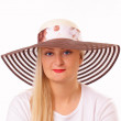 Beautiful blonde woman in a hat — Stockfoto