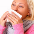 Blonde woman with cold — Stock Photo #13958672
