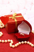 Beautiful present for St. Valentine Day — Stockfoto