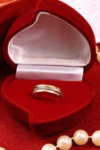 Beautiful ring for St. Valentine Day — Stockfoto