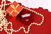 Present for St. Valentine Day — Stock Photo