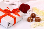 Wonderful gifts for St. Valentine Day — Stock Photo