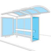 Bus stop — Stockvector