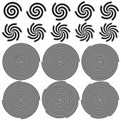 Spirals Pattern Set — Stock Vector