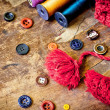 Sewing buttons — Stock Photo #40043641