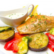 Foto Stock: Marinated proasted red mullet