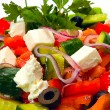 Foto Stock: Greek salad background
