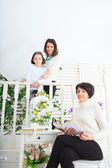 Grandmother, daughter and granddaughter — Stock Photo