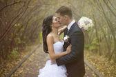Bride and groom at wedding ceramony — Foto de Stock