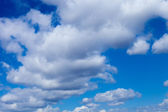 Beauty peaceful sky with white clouds — Stock Photo