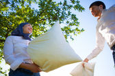 Pillow fight — Foto de Stock