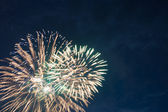 Colorful firework display — Stock Photo