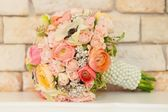 Colorful bridal bouquet — Stock Photo