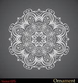 Ornamental circle template — Stock Vector
