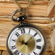 Antique watch and books — Stock Photo #18975451