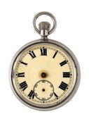 Vintage horloge geïsoleerd op witte achtergrond — Stockfoto
