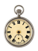 Vintage reloj aisladas sobre fondo blanco — Foto de Stock