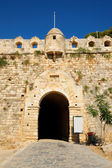 Main entrance to fortress Fortezza in city of Rethymno, Crete, Greece — Stock Photo