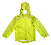 Rain jacket isolated on white background — Stock Photo
