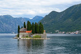 St. George's Island near of town Perast in Bay of Kotor, Montenegro — Стоковое фото