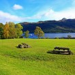 Loch Lomond, Tarbet in October, Scotland, UK — Stock Photo