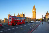 Streets of London in the morning, Westminster abbey — Stock Photo