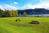 Loch Lomond, Tarbet in October, Scotland, UK — Stock Photo