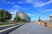 Modern Architecture at the Thames river, London — Foto Stock
