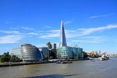 London citiscape with the Shard, England, UK — Stock Photo