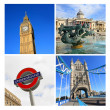 London famouse places, collage - Stock Photo
