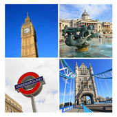 London famouse places, collage — Stock Photo