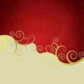 Altın swirls ile zarif arka plan — Stok fotoğraf