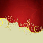 Elegant background with golden swirls — 图库照片
