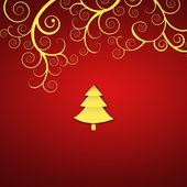 Elegant jul bakgrund med gyllene virvlar — Stockfoto