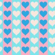 Lovely small hearts seamless pattern - Stock Vector