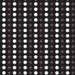 White retro pattern on black, seamless vector — Stockvektor