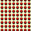 Circles, red and black retro pattern — Stock Vector #17655281