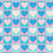 Lovely small hearts seamless pattern — ベクター素材ストック