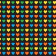 Vector de stock : Lovely small hearts seamless pattern