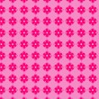 Pink flowers seamless vector background - Stock Vector