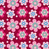 Muy retro flores sobre fondo púrpura — Vector de stock